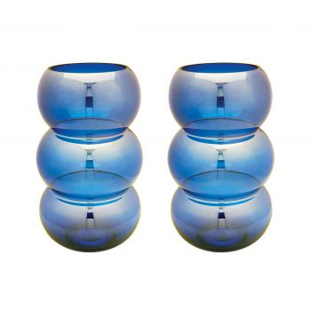 ELK Home Signature Votive in Cobalt Blue