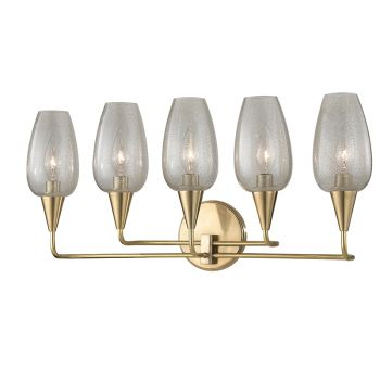 Hudson Valley Longmont 5-Light Wall Sconce in Aged Brass