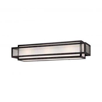 "Minka Lavery Camden Square 3-Light 24"" Bathroom Vanity Light in Aged Charcoal"