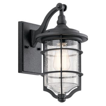 "Kichler Royal Marine 13.25"" Outdoor Wall Sconce in Distressed Black"