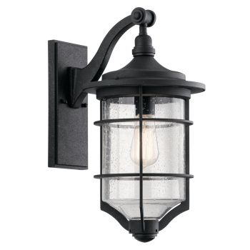 "Kichler Royal Marine 18.25"" Outdoor Wall Sconce in Distressed Black"