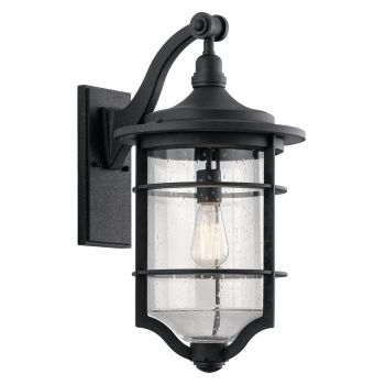 "Kichler Royal Marine 21.75"" Outdoor Wall Sconce in Distressed Black"