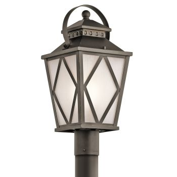 Kichler Hayman Bay 1-Light Outdoor Post Lantern in Olde Bronze