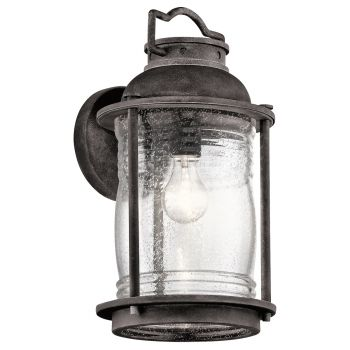 Kichler Ashland Bay 1-Light Large Outdoor Wall in Weathered Zinc