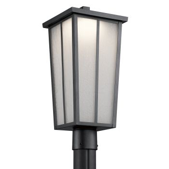 Kichler Amber Valley LED Outdoor Post Lantern in Textured Black