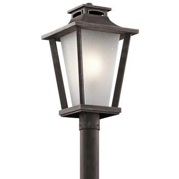 Kichler Sumner Court Outdoor Post Lantern in Weathered Zinc