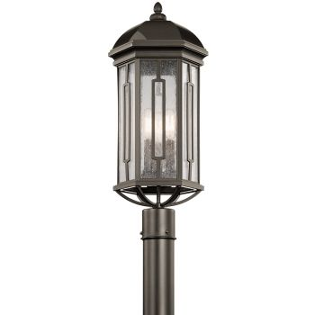 Kichler Galemore 3-Light Outdoor Post Lantern in Olde Bronze
