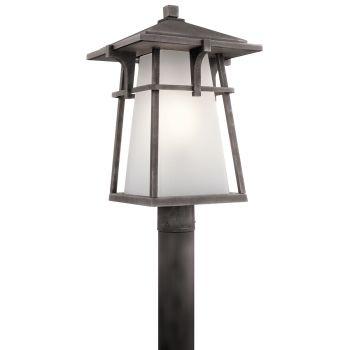 Kichler Beckett 1-Light Outdoor Post Lantern in Weathered Zinc