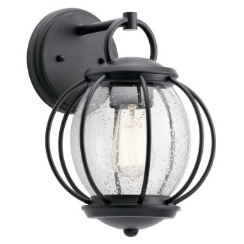 "Kichler Vandalia 9"" Outdoor Wall Sconce in Textured Black"