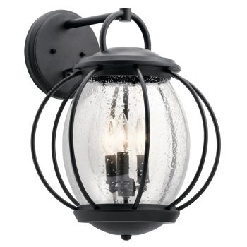 Kichler Vandalia 3-Light Outdoor Wall Sconce in Textured Black