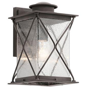 Kichler Argyle 1-Light Medium Outdoor Wall Lantern in Weathered Zinc