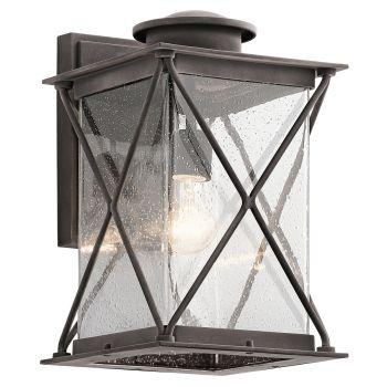 Kichler Argyle 1-Light Large Outdoor Wall Lantern in Weathered Zinc