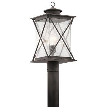 Kichler Argyle 1-Light Outdoor Post Lantern in Weathered Zinc