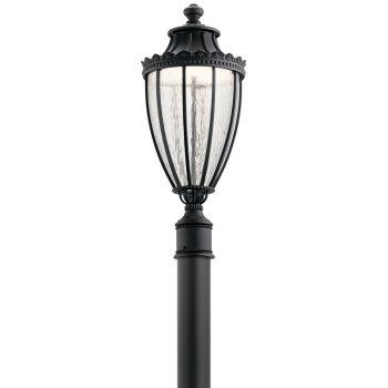 """Kichler Wakefield 25.5"""" Outdoor Post Lantern in Textured Black"""