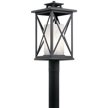 """Kichler Piedmont 20.75"""" Outdoor Post Lantern in Distressed Black"""