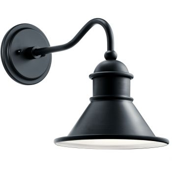 """Kichler Northland 12"""" Outdoor Wall Sconce in Black"""