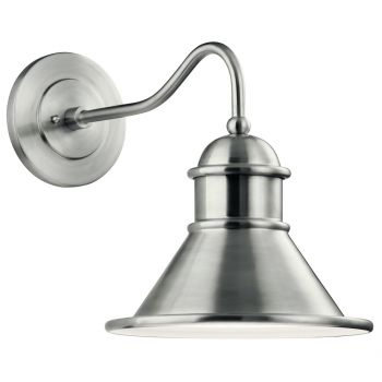 """Kichler Northland 16.75"""" Outdoor Wall Sconce in Brushed Aluminum"""