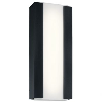 "Kichler Ashton 15"" 4-Light Outdoor Wall Sconce in Textured Black"