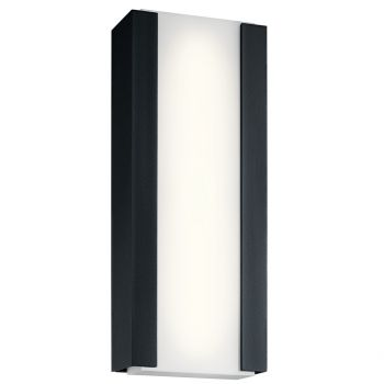 "Kichler Ashton 24"" 4-Light Outdoor Wall Sconce in Textured Black"
