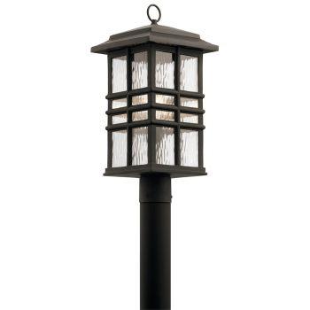 "Kichler Beacon Square 20.5"" Outdoor Post Lantern in Olde Bronze"