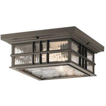 Kichler Beacon 2-Light Outdoor Ceiling Light in Olde Bronze