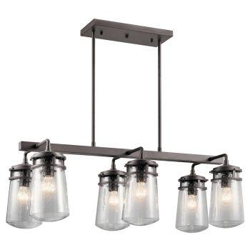 Kichler Lyndon 6-Light Outdoor Chandelier in Architectural Bronze
