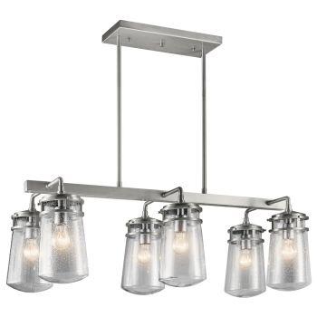 Kichler Lyndon 6-Light Outdoor Chandelier in Brushed Aluminum