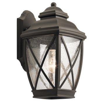 """Kichler Tangier 13.5"""" Outdoor Wall Sconce in Olde Bronze"""