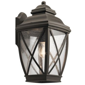"""Kichler Tangier 17"""" Outdoor Wall Sconce in Olde Bronze"""