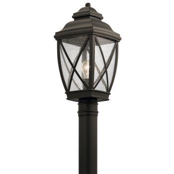 "Kichler Tangier 19.75"" Outdoor Post Lantern in Olde Bronze"