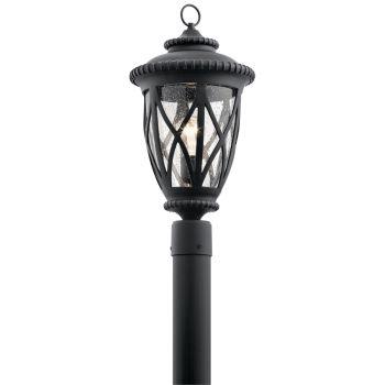 """Kichler Admirals Cove 20.75"""" Outdoor Post Lantern in Textured Black"""
