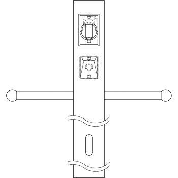 Kichler Accessory Post w/Photocell, GCO & Ladder in Architectural Bronze