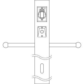 Kichler Accessory Post w/Photocell, GCO & Ladder in White