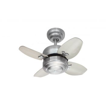 "Monte Carlo 20"" Mini 20 Ceiling Fan in Brushed Steel"