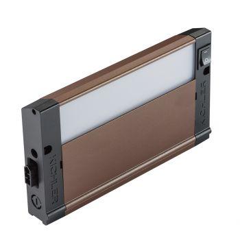 """Kichler 4U Series LED 8"""" 3000K Under Cabinet in Bronze Textured"""