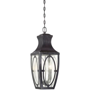 Savoy House Shelton 2-Light Outdoor Hanging Lantern in Bronze/Gold