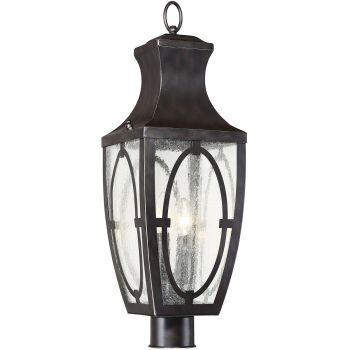 Savoy House Shelton 2-Light Outdoor Post Lantern in English Bronze/Gold
