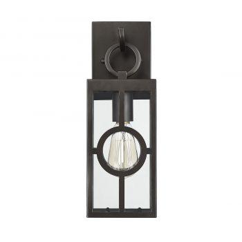 """Savoy House Lauren 14.25"""" Outdoor Wall Lantern in English Bronze"""