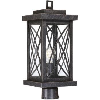 "Savoy House Norwalk 19"" Outdoor Post Lantern in Brushed Bronze"