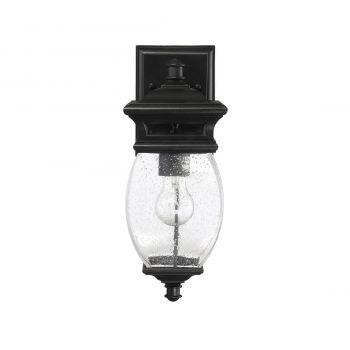 """Savoy House Seven Oaks 15"""" Outdoor Wall Lantern in Black"""