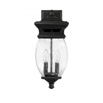 "Savoy House Seven Oaks 17.25"" 2-Light Outdoor Wall Lantern in Black"