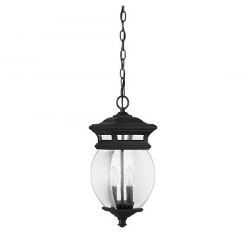 "Savoy House Seven Oaks 7.25"" 2-Light Outdoor Hanging Lantern in Black"