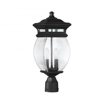 "Savoy House Seven Oaks 7.25"" 2-Light Outdoor Post Lantern in Black"