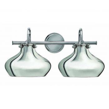 Hinkley Congress 2-Light Bathroom Vanity Light in Chrome