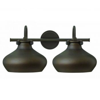 Hinkley Congress 2-Light Bathroom Vanity Light in Oil Rubbed Bronze
