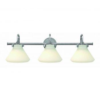 Hinkley Congress 3-Light Bathroom Vanity Light in Chrome