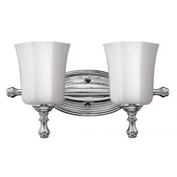 Hinkley Shelly 2-Light Bathroom Vanity Light in Chrome