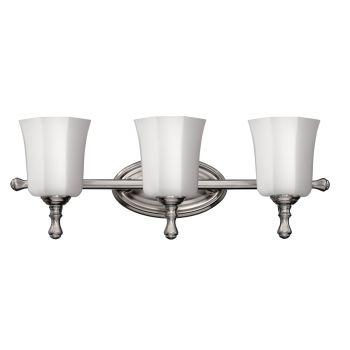 Hinkley Shelly 3-Light Bathroom Vanity Light in Brushed Nickel