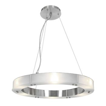 """Access Lighting Oracle 22"""" 6-Light LED Chandelier in Brushed Steel"""