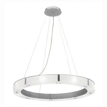 """Access Lighting Oracle 28"""" 8-Light LED Chandelier in Brushed Steel"""